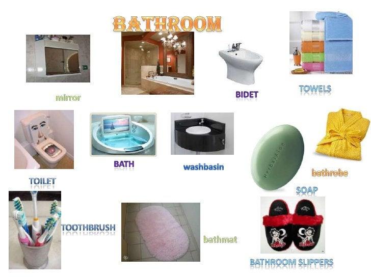 bathroom<br />towelS<br />bidet<br />mirror<br />bath<br />washbasin<br />bathrobe<br />toilet<br />soap<br />toothbrush<b...