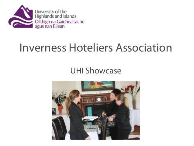 Inverness Hoteliers Association UHI Showcase