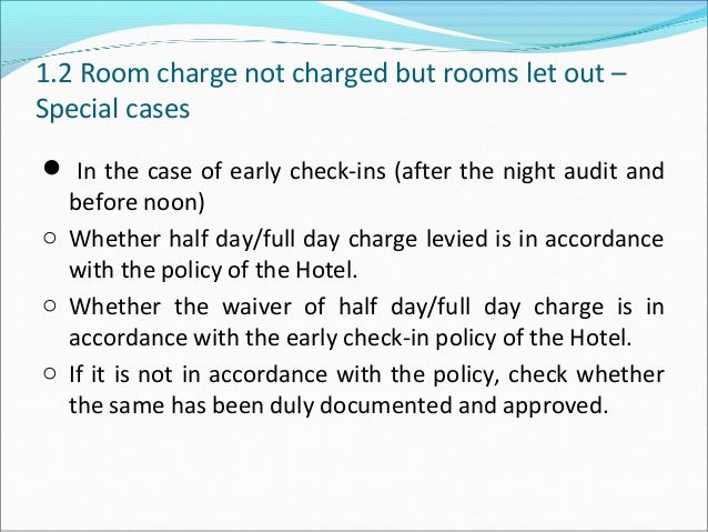 Hotel industries audit_check_list_room_revenue