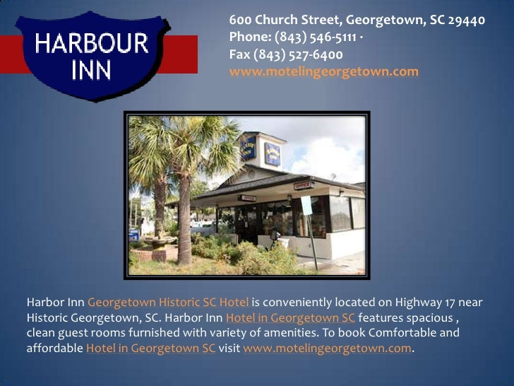 600 Church Street, Georgetown, SC 29440                                    Phone: (843) 546-5111 ·                        ...