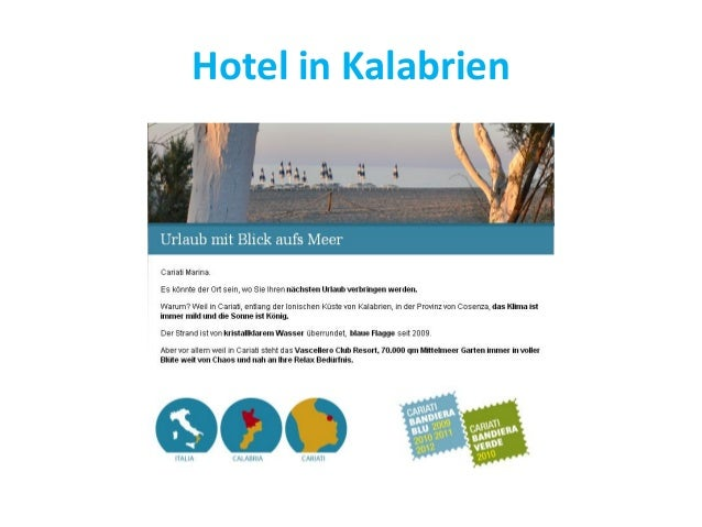 Hotel in Kalabrien
