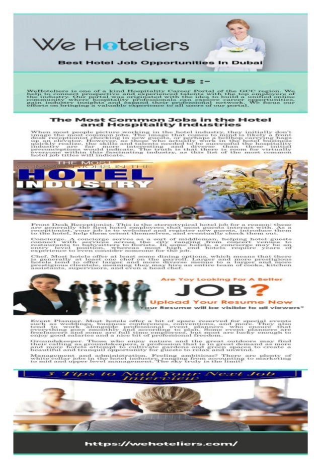 Join Us And Get Hotel Job Opportunities In Dubai