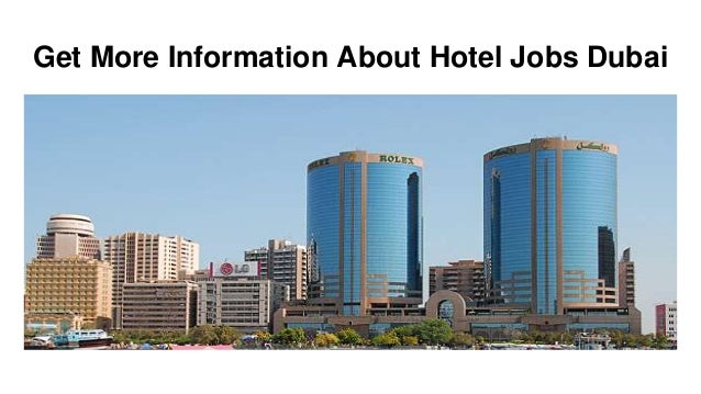 Join Now For Hotel Job Opportunities in Dubai