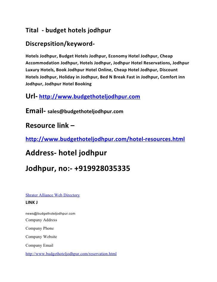 Tital - budget hotels jodhpur Discrepsition/keyword- Hotels Jodhpur, Budget Hotels Jodhpur, Economy Hotel Jodhpur, Cheap A...