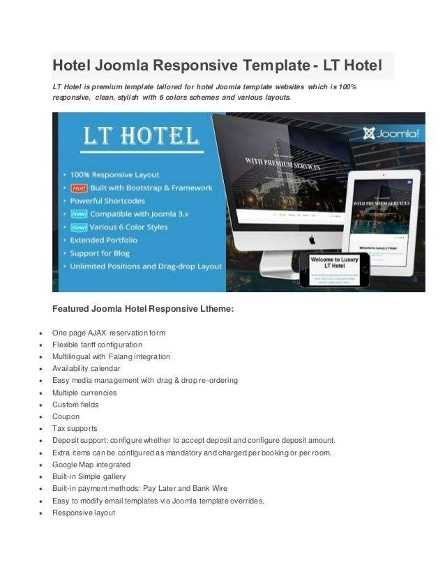 Hotel joomla responsive template