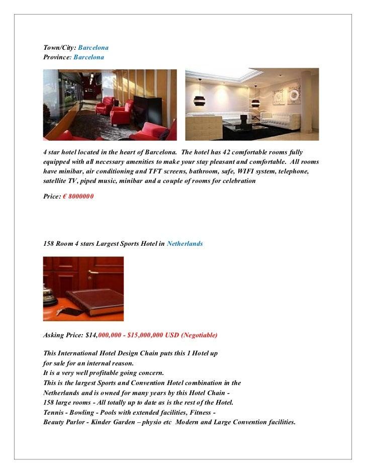 Hotel list in major cities in europe