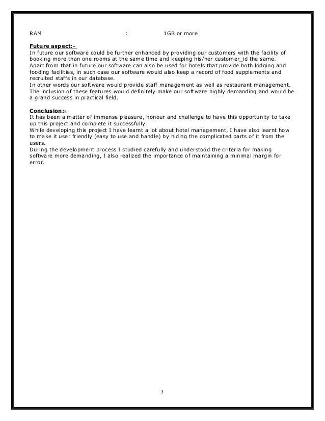 Hotel Management Or Reservation System Document