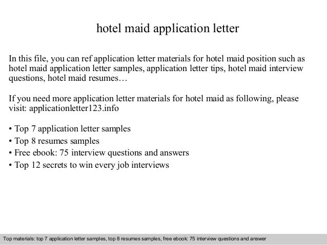 Hotel maid application letter 1 638gcb1411600557 hotel maid application letter in this file you can ref application letter materials for hotel spiritdancerdesigns Gallery