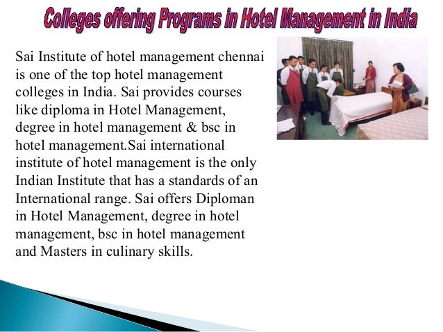 HotelHotel ManagementManagement With the Indian Hospitality sector witnessing a boom that promises to stay, the employment...