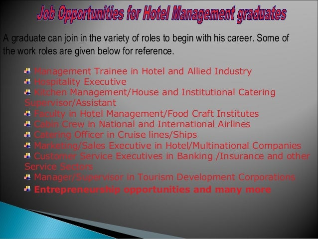 General Managers: They have responsibility for all operations at a hotel. They exercise a lot of authority within paramete...