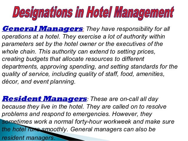 HOTEL MANAGEMENT Learn Advanced Hotel Management & Catering Technology at Sai International Institute of Hotel Management ...