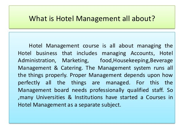 How do you find hotel management courses?