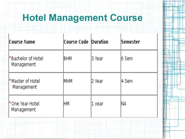 hospitality management courses essay Hospitality management course schedule close graduate close master of science ms in hospitality management (non-thesis) ms in hospitality management (thesis) master of science in hospitality management - specialization in revenue management ms in hospitality.