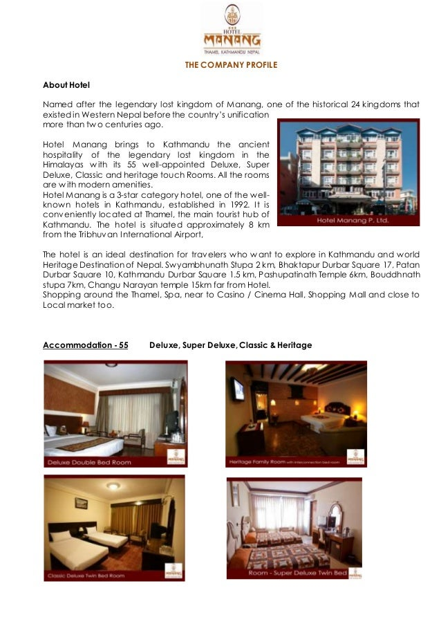 Hotel manang company profile for Hotel design companies