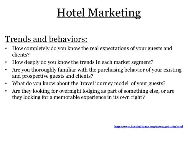 Hotel Sales & Marketing