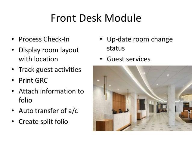 Hotel property management system  PMS