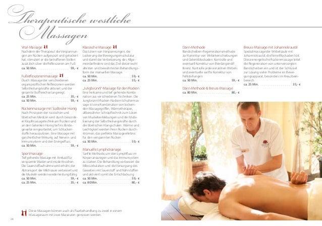 2928Therapeutische westlicheMassagenKlassische MassageDas Lösen von Verspannungen, dieLockerung der Bewegungsmuskulaturund...