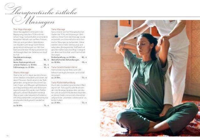 3130TherapeutischeöstlicheMassagenTuina-MassageTuina ist eine von fünf therapeutischenSäulen der TCM, mit Ursprung in Zen...