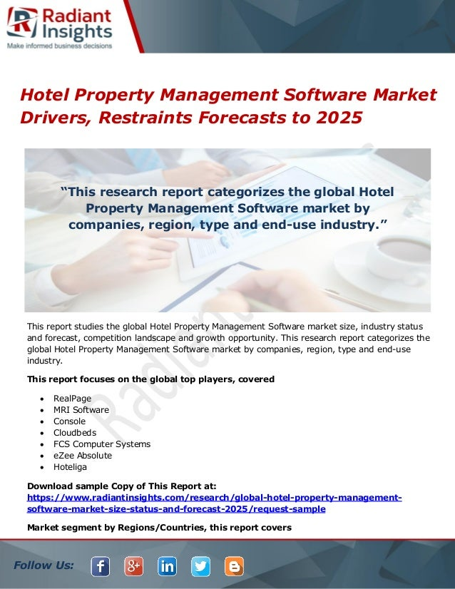 Hotel property management software market drivers