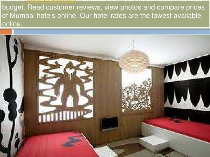 Need a hotel in Mumbai? Choose from our list of hotels in a wide budget. Read customer reviews, view photos and compare pr...