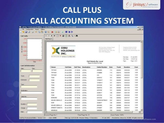 Call Accounting and PMS Interfaces