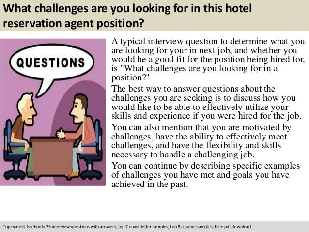 Hotel reservation agent interview questions