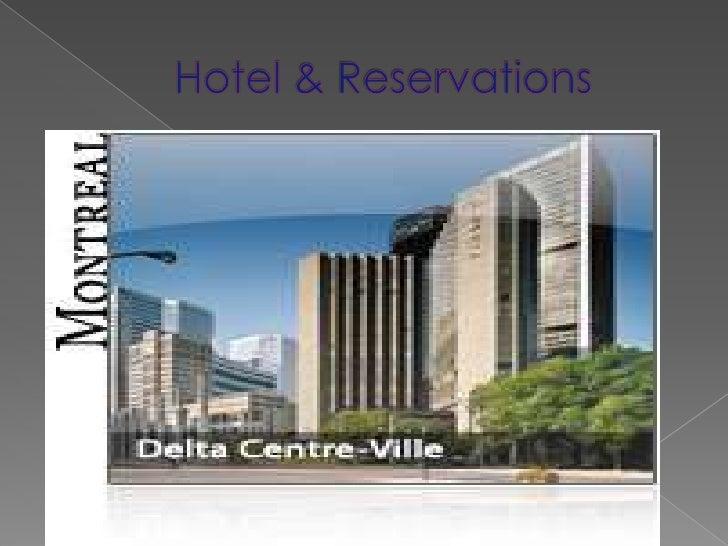 Hotel & Reservations<br />