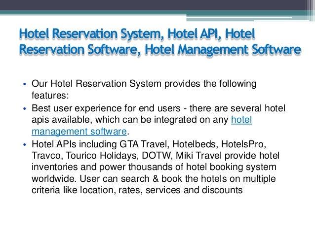 Hotel Reservation System, Hotel API, Hotel Reservation Software, Hotel Management Software • Our Hotel Reservation System ...