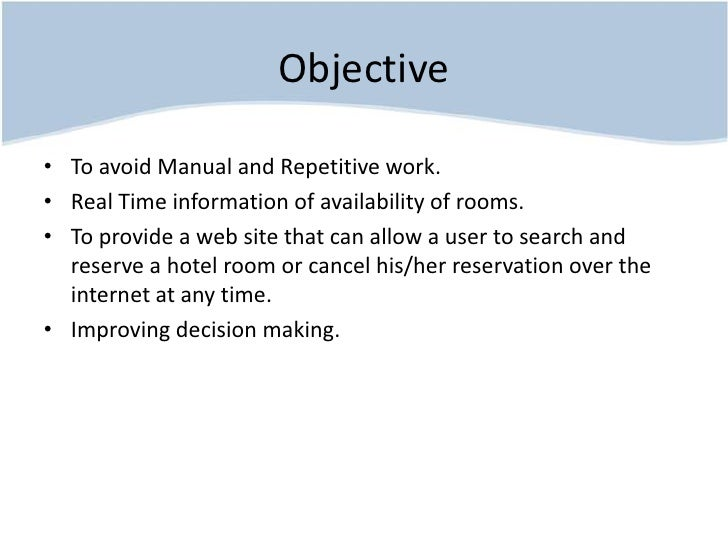 Hotel reservation system project for The hotel reservation