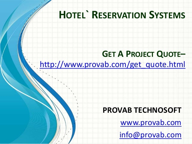 Hotel reservation systems online hotel reservation system for Hotel reservations
