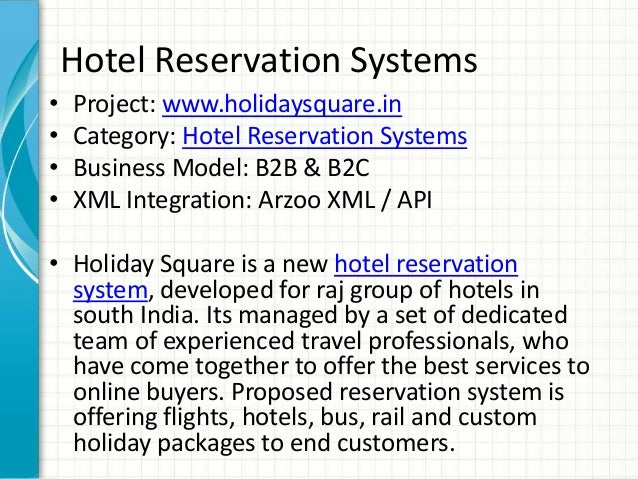 introduction to online hotel reservation system Overview of hotel reservation software information technology essay  time processing system a online hotel reservation software is  introduction to system.