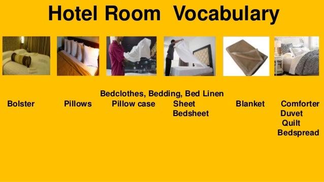 Hotel Room Vocabulary