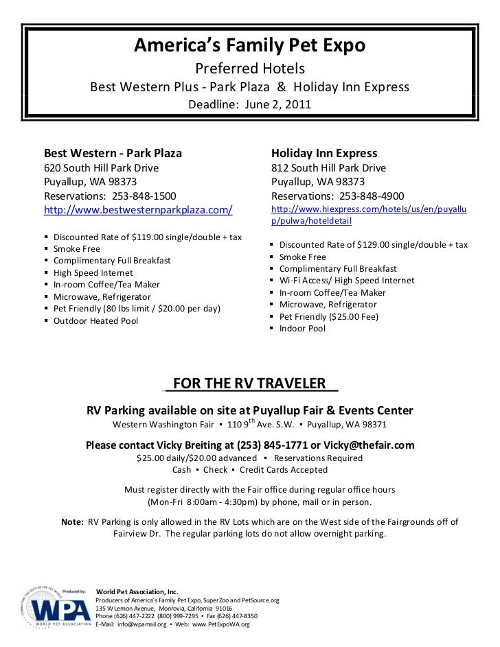 America's Family Pet Expo                                                 Preferred Hotels            Best Western Plus - ...