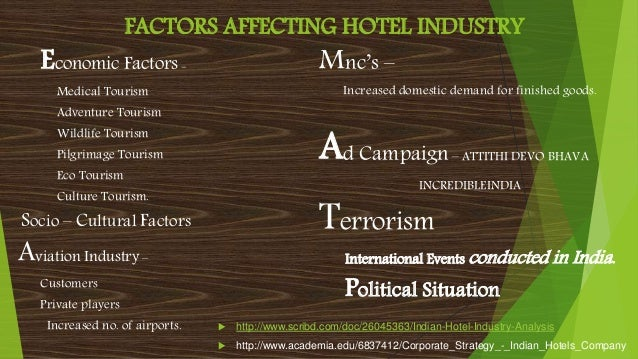 PESTEL Analysis of Hotel Industry