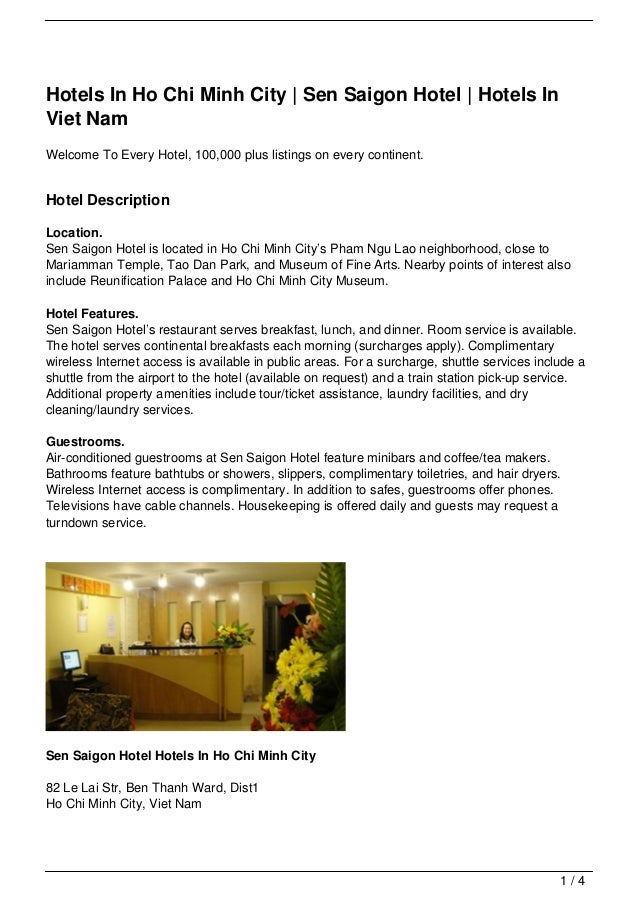 Hotels In Ho Chi Minh City   Sen Saigon Hotel   Hotels InViet NamWelcome To Every Hotel, 100,000 plus listings on every co...