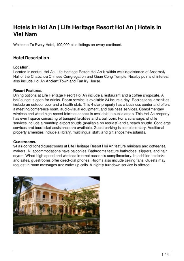 Hotels In Hoi An | Life Heritage Resort Hoi An | Hotels InViet NamWelcome To Every Hotel, 100,000 plus listings on every c...