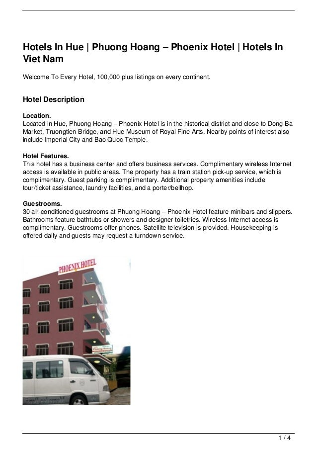 Hotels In Hue | Phuong Hoang – Phoenix Hotel | Hotels InViet NamWelcome To Every Hotel, 100,000 plus listings on every con...
