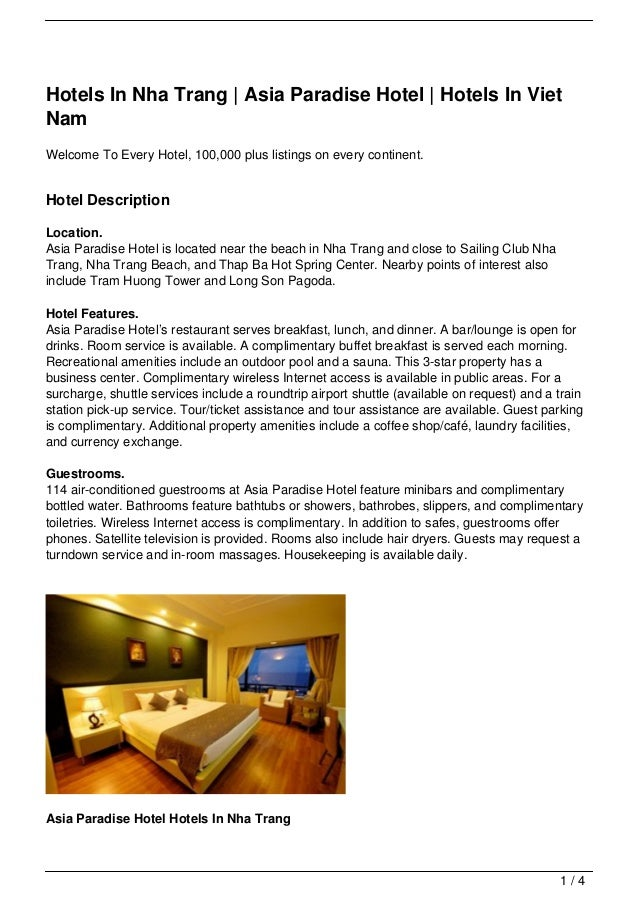 Hotels In Nha Trang | Asia Paradise Hotel | Hotels In VietNamWelcome To Every Hotel, 100,000 plus listings on every contin...