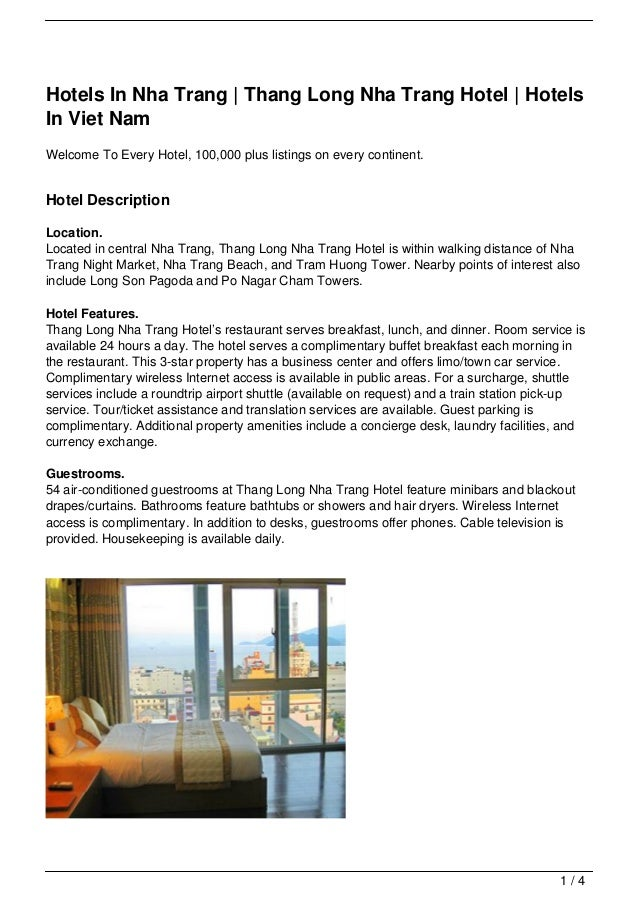 Hotels In Nha Trang | Thang Long Nha Trang Hotel | HotelsIn Viet NamWelcome To Every Hotel, 100,000 plus listings on every...