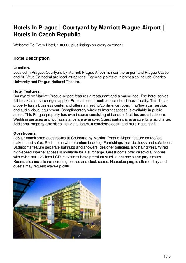 Hotels In Prague | Courtyard by Marriott Prague Airport |Hotels In Czech RepublicWelcome To Every Hotel, 100,000 plus list...