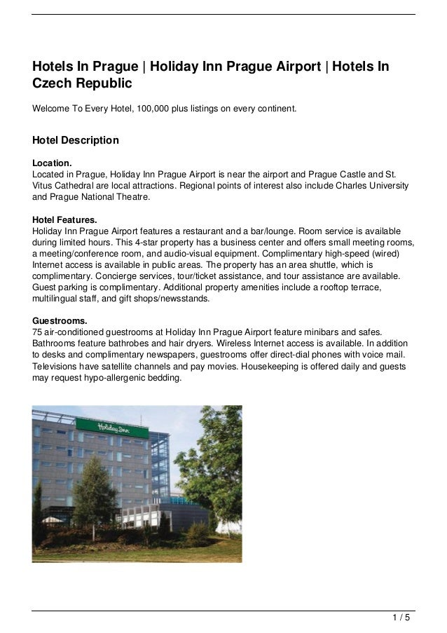 Hotels In Prague | Holiday Inn Prague Airport | Hotels In Czech Republic Welcome To Every Hotel, 100,000 plus listings on ...
