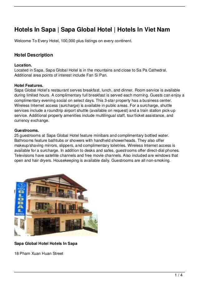 Hotels In Sapa | Sapa Global Hotel | Hotels In Viet NamWelcome To Every Hotel, 100,000 plus listings on every continent.Ho...