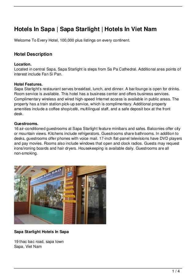 Hotels In Sapa | Sapa Starlight | Hotels In Viet NamWelcome To Every Hotel, 100,000 plus listings on every continent.Hotel...