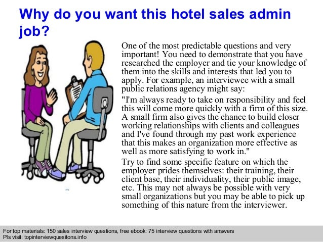 Hotel sales admin interview questions and answers