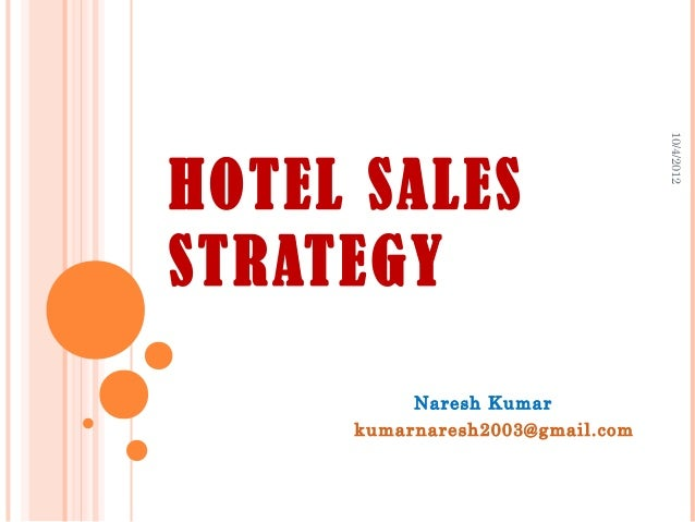 hotel sales strategies