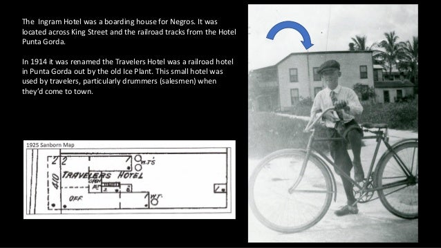 The Ingram Hotel was a boarding house for Negros. It was located across King Street and the railroad tracks from the Hotel...