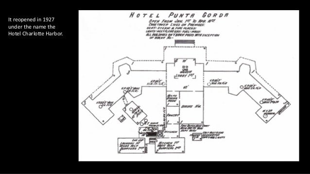 It reopened in 1927 under the name the Hotel Charlotte Harbor. It reopened in 1927 under the name the Hotel Charlotte Harb...