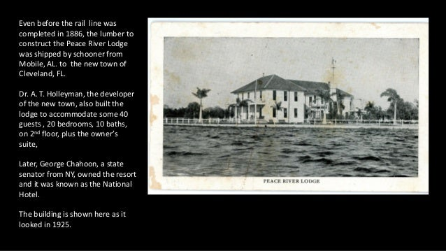 Even before the rail line was completed in 1886, the lumber to construct the Peace River Lodge was shipped by schooner fro...