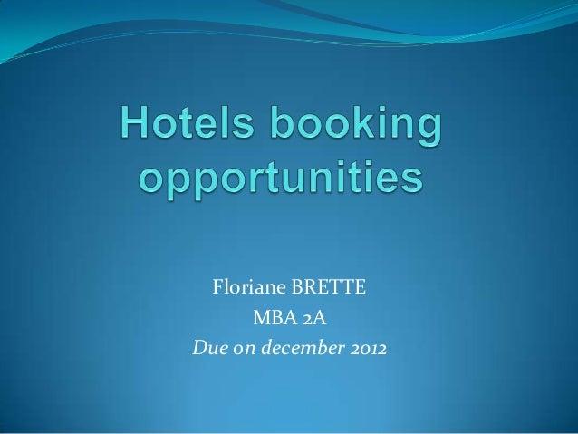 Floriane BRETTE      MBA 2ADue on december 2012
