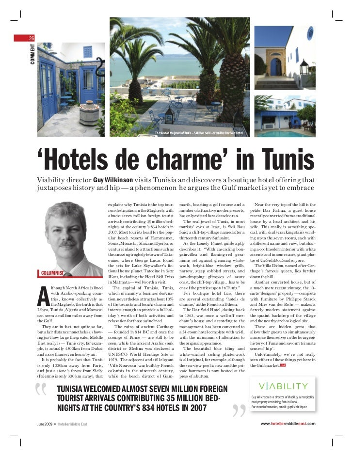 26COMMENT                                                                               The view of the jewel of Tunis — S...